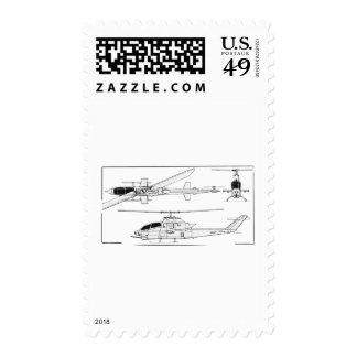 AH1 Blueprint Postage Stamps