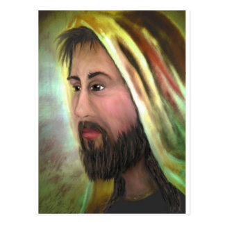 AH-001-048 Ave Hurley -  JESUS, THE EYES OF COMPAS Postcard