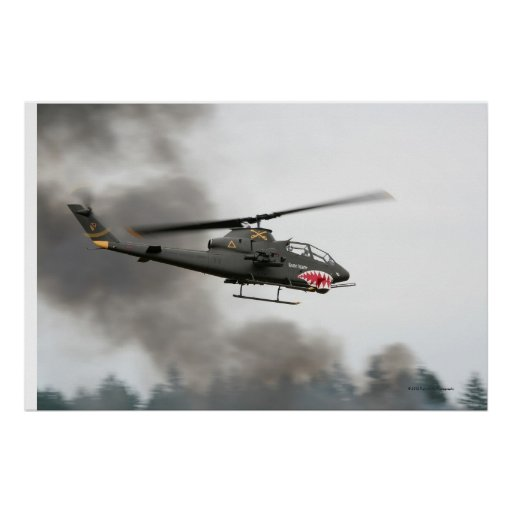 AH-1 Cobra - Attack Helicopter Poster