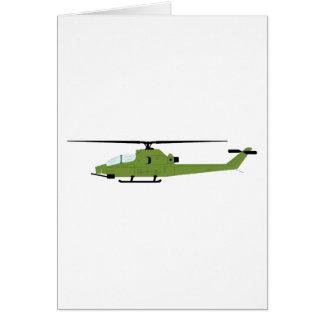 AH-1 Cobra Silhouette Card