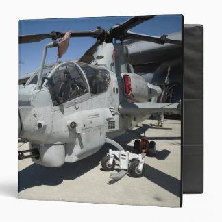 AH-1Z Super Cobra attack helicopter 3 Ring Binder