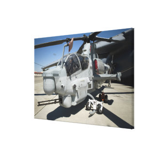 AH-1Z Super Cobra attack helicopter Canvas Print