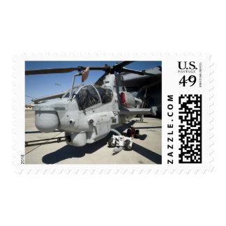 AH-1Z Super Cobra attack helicopter Postage Stamp
