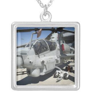 AH-1Z Super Cobra attack helicopter Square Pendant Necklace