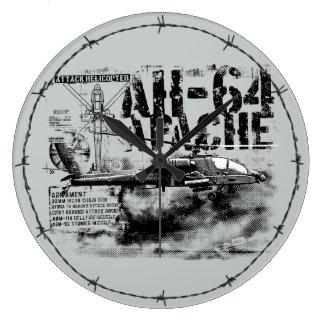 AH-64 Apache Acrylic Wall Clock