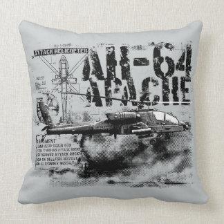 AH-64 Apache Grade A Cotton Throw Pillow 20x20