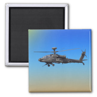 AH-64 Apache Helicopter 2 Inch Square Magnet