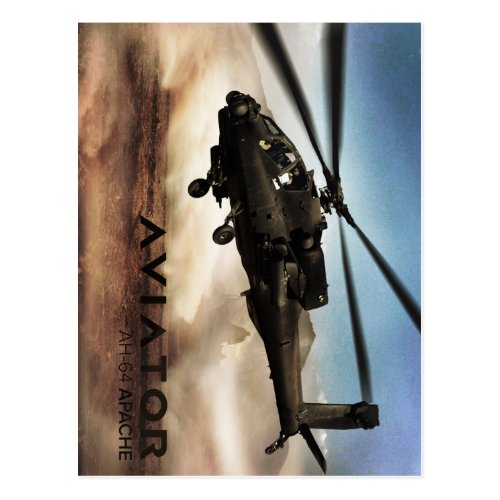 AH_64 Apache Helicopter Postcard