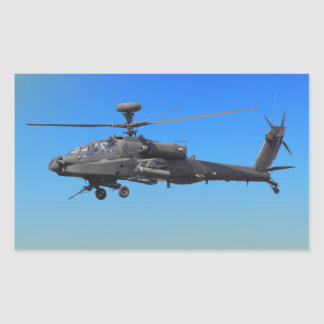 AH-64 Apache Helicopter Rectangular Sticker