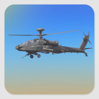 AH-64 Apache Helicopter Square Sticker