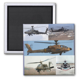 Ah-64 Apache Longbow 2 Inch Square Magnet