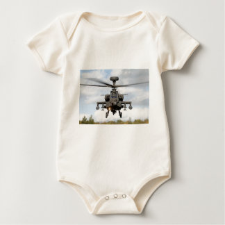 ah 64 apache longbow helocopter military baby bodysuit