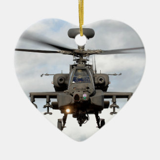ah 64 apache longbow helocopter military ceramic ornament