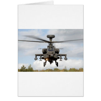 ah 64 apache longbow helocopter military greeting card