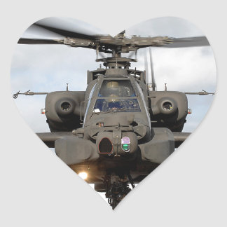 ah 64 apache longbow helocopter military heart sticker