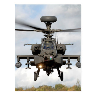 ah 64 apache longbow helocopter military postcard