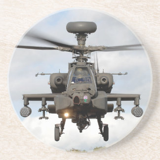 ah 64 apache longbow helocopter military sandstone coaster