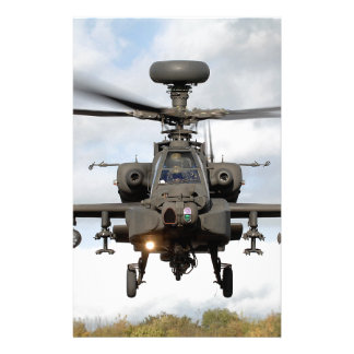 ah 64 apache longbow helocopter military stationery