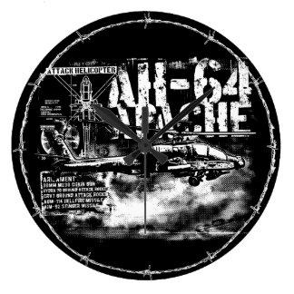 AH-64 Apache Round (Large) Wall Clock