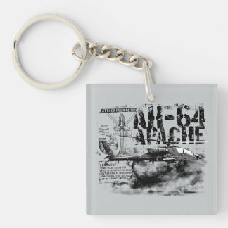 AH-64 Apache Square (double-sided) Keychain