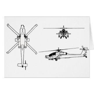 AH-64 blueprint Card