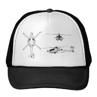 AH-64 blueprint Hats