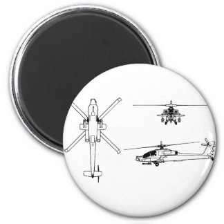 AH-64 blueprint Magnet