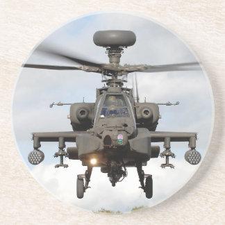 ah 64 militares del helocopter del arco de apache posavasos diseño