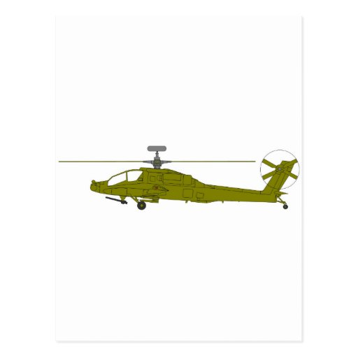 AH-64D attack helicopter Postcard