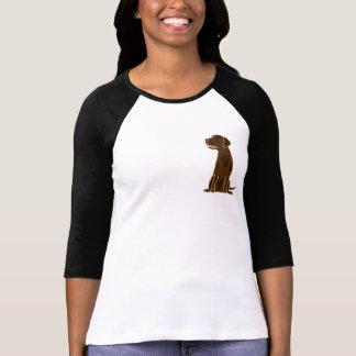 AH camiseta de Labrador del chocolate