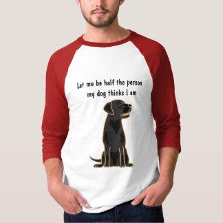 AH camiseta de Labrador del negro del rezo de los Playera
