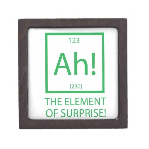 Ah el elemento de la sorpresa caja de joyas de calidad
