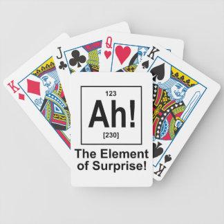 ¡Ah! El elemento de la sorpresa Baraja De Cartas