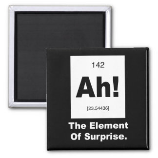 ¡Ah! El elemento de la sorpresa Imán Cuadrado