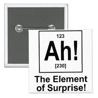 ¡Ah! El elemento de la sorpresa Pin Cuadrado