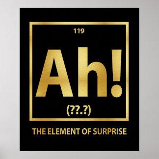 ¡Ah!  El elemento de la sorpresa Póster