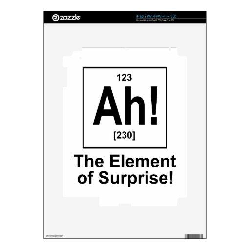 ¡Ah! El elemento de la sorpresa Skins Para eliPad 2