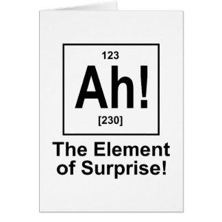 ¡Ah! El elemento de la sorpresa Tarjeta De Felicitación