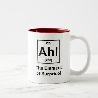 ¡Ah! El elemento de la sorpresa Taza Dos Tonos
