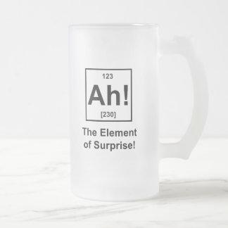 ¡Ah! El elemento de la sorpresa Taza De Cristal