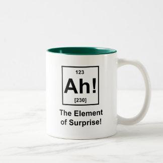 ¡Ah! El elemento de la sorpresa Taza De Dos Tonos