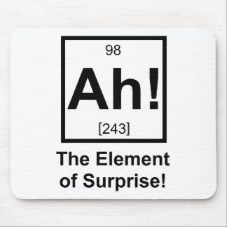 Ah el elemento del símbolo periódico del elemento  alfombrillas de ratón