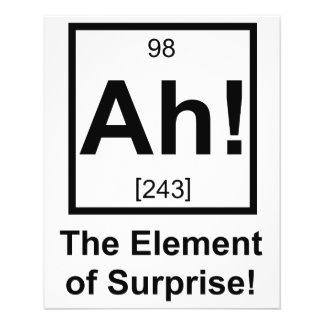 """Ah el elemento del símbolo periódico del elemento folleto 4.5"""" x 5.6"""""""