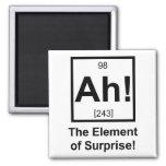 Ah el elemento del símbolo periódico del elemento  imán para frigorifico