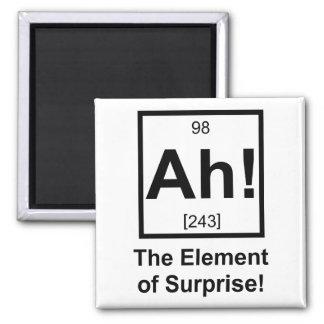 Ah el elemento del símbolo periódico del elemento  imán cuadrado