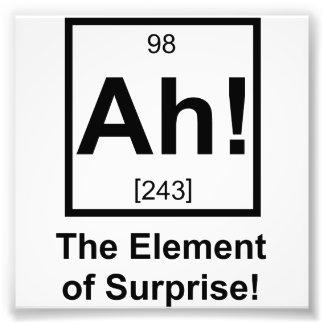 Ah el elemento del símbolo periódico del elemento  fotografía