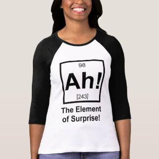 Ah el elemento del símbolo periódico del elemento camiseta