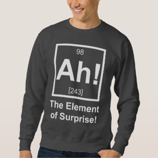 Ah el elemento del símbolo periódico del elemento sudadera