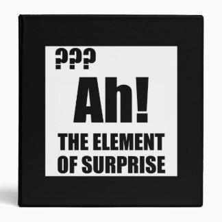 Ah Element Of Surprise Binder