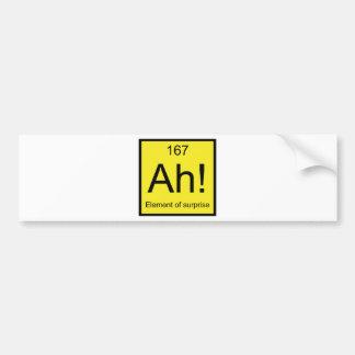 Ah! Element of Surprise Bumper Sticker